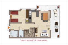 Skizze EG Chalet Maisonette